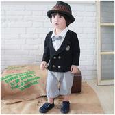 Augelute Baby 假兩件紳士禮服連身衣 37251