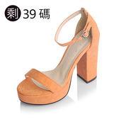 ★KEITH-WILL★初夏輕旅行 色彩繫帶低粗跟涼鞋