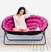 懶人沙發歐式雙人布藝沙發單人沙發摺疊沙發椅家用休閒椅 igo