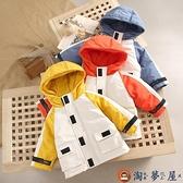 兒童裝棉服秋冬季加厚男童棉衣寶寶冬裝棉襖工裝外套【淘夢屋】