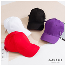 Catworld 側文字釦嘻哈棒球帽【18003476】‧F
