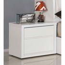 【森可家居】凡斯床頭櫃 8JX321-3 白色 簡約北歐風 MIT