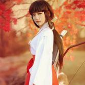 日本和服犬夜叉COSPLAY服裝全套桔梗COS服巫女服【聚寶屋】
