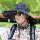 帽子男夏季遮陽帽登山釣魚帽男士夏天漁夫帽大帽檐騎車防曬太陽帽