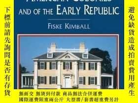 二手書博民逛書店Domestic罕見Architecture Of The American Colonies And Of Th