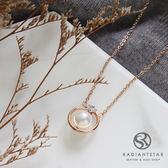 [鈦鋼] 格拉斯的靈魂珍珠含鑽項鍊【KTL357】璀璨之星☆