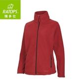 【瑞多仕 RATOPS 女 推毛防潑水夾克《玫瑰紅色》】DH6-123/刷毛外套/中層衣/保暖外套