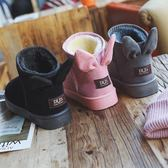 女鞋2018冬季新款正韓學生百搭雪地靴女短筒平底棉鞋保暖加絨短靴 九週年全館柜惠
