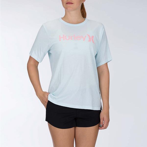 HURLEY 女 OAO PT OVERSIZED CREW SS BLACK/(WHITE) T恤