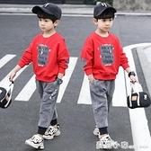 兒童裝套裝男童秋裝2020新款洋氣春秋款中大童兩件套韓版男孩潮衣 蘇菲小店