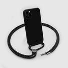 【南紡購物中心】CRYSTAL-X系列 繩索背帶手機殼-透黑|LAUT|iPhone 12 series
