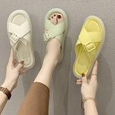 涼拖鞋女夏外穿2021新款時尚百搭網紅果凍底防滑休閒外出軟底拖鞋 【Ifashion】