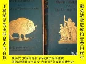 二手書博民逛書店1897年罕見Stanford s North America