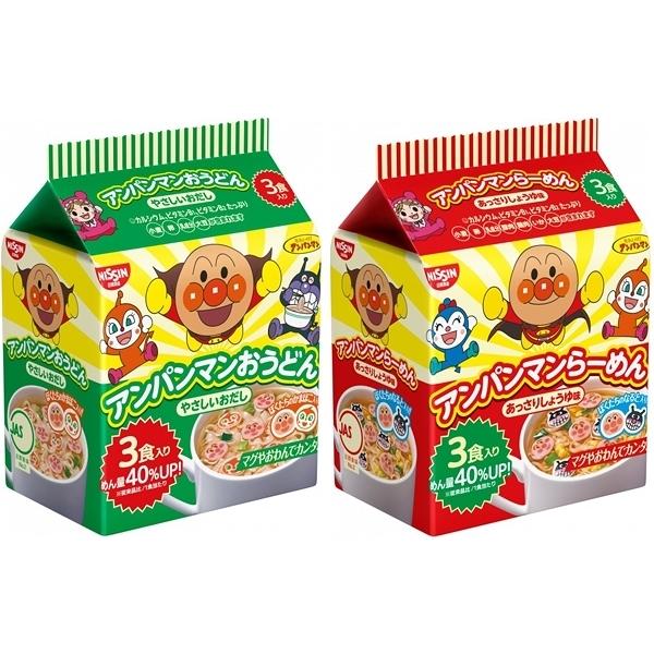 日清 麵包超人 醬油味拉麵/烏龍麵(30gx3入) 口味可選【小三美日】款式隨機出貨