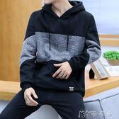 男士長袖t恤 韓版套頭連帽T恤男裝連帽上衣寬鬆外套 卡卡西