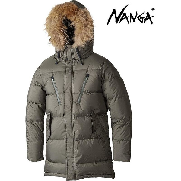 『VENUM旗艦店』Nanga 連帽羽絨外套/短大衣/羽絨衣/雪衣 Down Half Coat 11815 男款 KHA 卡其 日本製