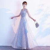晚禮服連衣裙女2020新款宴會氣質主持人大合唱演出服仙氣學生長款