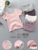 女童短袖t恤兒童純棉半袖夏季體恤汗衫女孩上衣圓領寶寶打底衫女