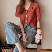 夏季2020新款韓版淑女設計感小眾時尚襯衣翻領女ins潮秒殺價 七色堇