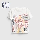 Gap男幼童 Gap x Marvel 漫威系列印花圓領短袖T恤 664138-白色
