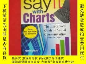 二手書博民逛書店罕見Say It With Charts:The Executi