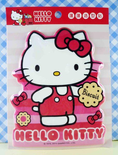 【震撼精品百貨】Hello Kitty 凱蒂貓~KITTY立體海綿貼紙-紅餅乾