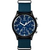 TIMEX 天美時 MK1 三眼計時 手錶(TXTW2R67600)  軍錶/藍