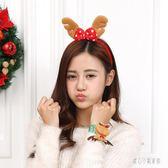 聖誕節頭飾 圣誕節兒童頭扣發箍圣誕麋鹿頭飾誕節派對圣誕帽 nm12594【甜心小妮童裝】