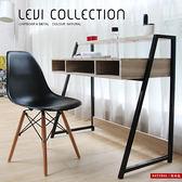 書桌 課桌 李維工業風個性鐵架書架型書桌/不含椅 / H&D 東稻家居