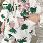 日式和服睡衣女秋夏純棉長袖甜美可愛春秋家居服套裝公主風可外穿