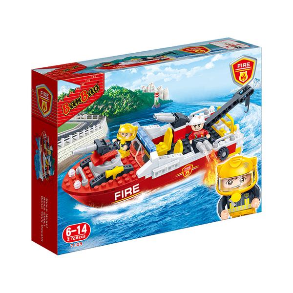 新消防系列 NO.7105消防救生艇【BanBao邦寶積木楚崴】