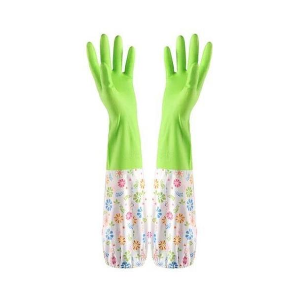 防水長版加絨家務手套 抗寒保暖家事手套 橡膠手套 洗碗手套 防油手套【ZA0105】《約翰家庭百貨