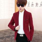 青少年小西裝男士修身小西服韓版休閒男裝秋季潮流男學生上衣外套 都市韓衣