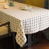 桌布-日式加厚棉麻小格子桌布圓桌台布蓋巾北歐現代田園餐桌布藝 滿598元立享89折