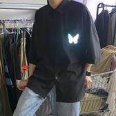 短袖西裝襯衫韓版潮流DK/JK制服寬鬆ins半袖正裝襯衣(快速出貨)