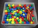 【台灣製USL遊思樂】穿繩 / 小串珠(4色,210pcs)+收納盒