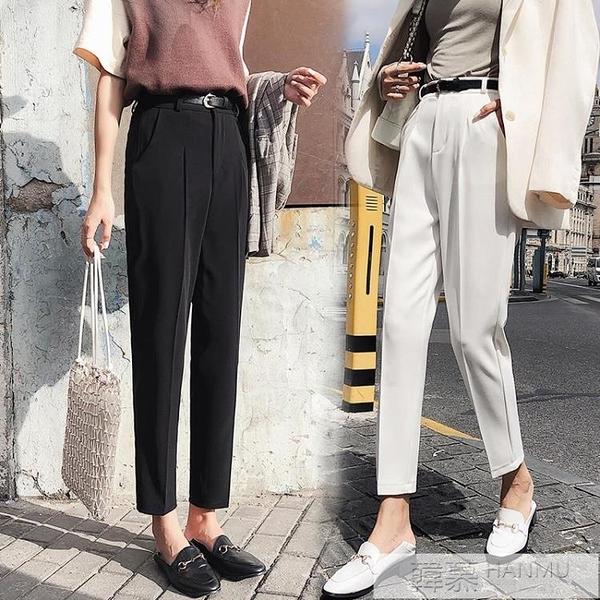 西裝褲女春夏秋新款高腰小腳煙管褲九分直筒寬鬆休閒褲子  夏季新品