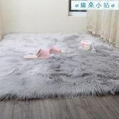 長毛絨地墊臥室床邊地墊櫥窗裝飾