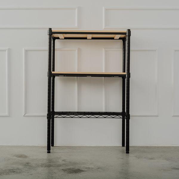 收納架/置物架/層架 松木60x30x90公分 三層烤黑收納層架  dayneeds