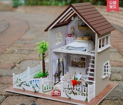diy小屋巴黎公寓手工拼裝房子模型屋大型別墅玩具