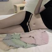 2條裝性感鏤空蕾絲邊繫帶低腰內褲女士誘惑舒適無痕包臀三角褲潮