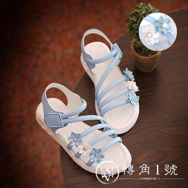女童涼鞋兒童鞋2018新款韓版夏季中大童水鉆學生女孩公主鞋寶寶鞋