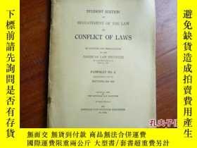 二手書博民逛書店CONFLICT罕見OF LAWS PAMPHLET MO.2Y