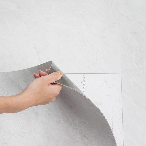 樂嫚妮 DIY仿大理石紋地貼 一坪 地板貼 超耐磨地貼 PVC地板 60X60cm 裝修 塑膠地板 阻燃防水