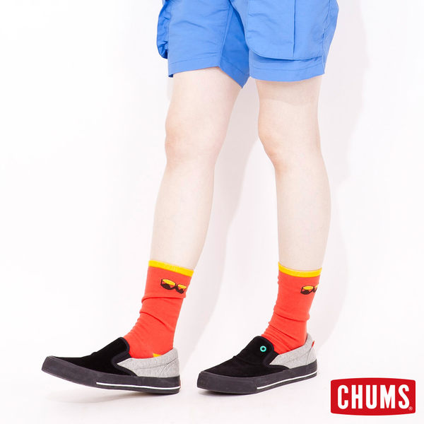 CHUMS 日本 休閒造型運動襪 單雙售 綠 CH061004M010