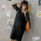 CANTWO JEANS蕾絲拼接織條洋裝-共兩色