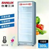 台灣三洋SANLUX【SRM-305】305公升直立式冷藏櫃/防霧裝置