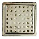 歐式方格防臭地板落水頭 2 吋排水孔