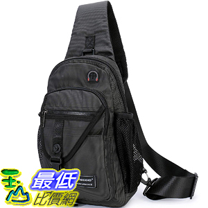 [8美國直購] 斜挎包 Sling Bags, Chest Shoulder Backpack Crossbody Bag One Strap Daypacks Fit 11.6-Inch B07DVZ8VDZ