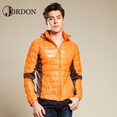 【JORDON 橋登 男 超輕撥水羽絨夾克《深橘》】993/輕量羽絨衣/羽絨外套/保暖外套